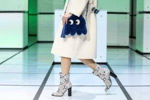 Anya Hindmarch Blue Shearling Pacman Shoulder Bag - Fall 2016
