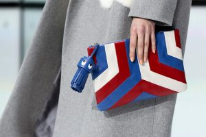 Anya Hindmarch Blue/White/Red Clutch Bag - Fall 2016