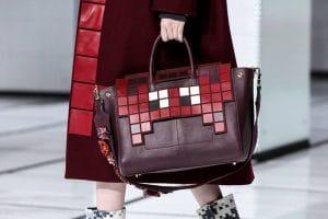 Anya Hindmarch Burgundy Pixelated Tote Bag - Fall 2016