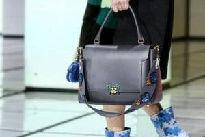 Anya Hindmarch Grey Bathurst Satchel Bag - Fall 2016