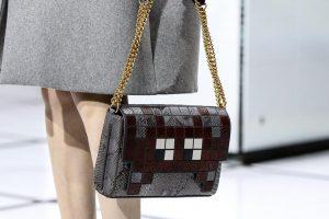 Anya Hindmarch Grey/Brown Python Pixelated Invaders Shoulder Bag - Fall 2016