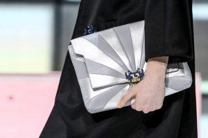 Anya Hindmarch Grey/Silver Clutch Bag - Fall 2016