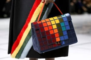 Anya Hindmarch Multicolor Pixelated Bathurst Satchel Bag - Fall 2016
