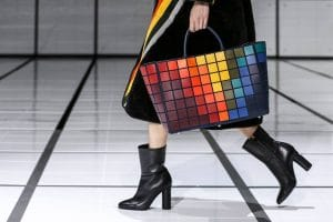 Anya Hindmarch Multicolor Pixelated Tote Bag - Fall 2016