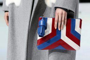 Anya Hindmarch Red/Blue/White Clutch Bag - Fall 2016