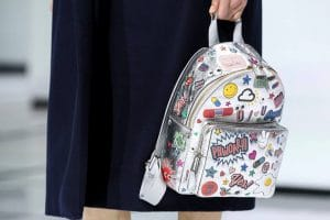 Anya Hindmarch Silver All-Over Stickers Backpack Bag - Fall 2016