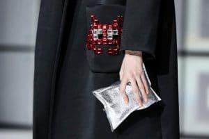 Anya Hindmarch Silver Clutch Bag - Fall 2016