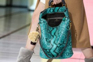 Anya Hindmarch Turquoise Pixelated Python Orsett Tote Bag - Fall 2016