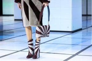 Anya Hindmarch White/Burgundy Flap Bag - Fall 2016