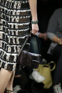 Bottega Veneta Black Crocodile:Intrecciato Shoulder Bag - Fall 2016