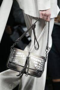 Bottega Veneta Black/White Crocodile Flap Bag - Fall 2016