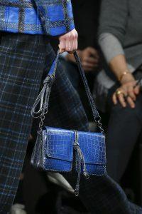 Bottega Veneta Blue Crocodile Flap Bag - Fall 2016