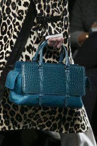 Bottega Veneta Blue Crocodile Monaco Bag - Fall 2016