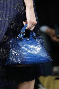 Bottega Veneta Blue Crocodile Top Handle Bag - Fall 2016