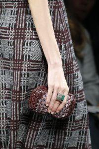 Bottega Veneta Burgundy Ayers Knot Clutch Bag - Fall 2016