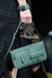 Bottega Veneta Green Crocodile Shoulder Bag - Fall 2016