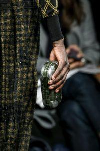 Bottega Veneta Green with Silver Detail Crocodile Knot Clutch Bag - Fall 2016