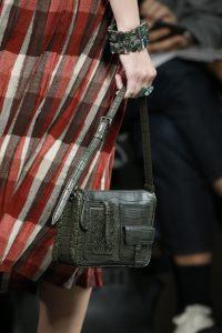Bottega Veneta Grey Crocodile:Interecciato Shoulder Bag - Fall 2016