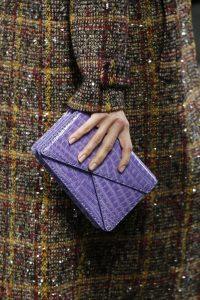 Bottega Veneta Purple Crocodile Envelope Clutch Bag - Fall 2016
