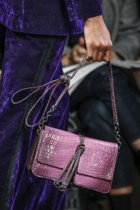 Bottega Veneta Purple Crocodile Flap Bag - Fall 2016