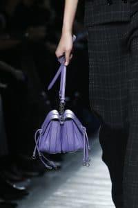Bottega Veneta Purple Double Mini Flap Bag 2 - Fall 2016