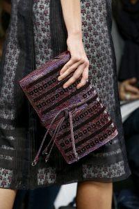 Bottega Veneta Purple/Black Embellished Clutch Bag - Fall 2016