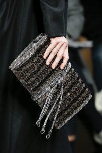 Bottega Veneta Silver/Black Embellished Clutch Bag - Fall 2016