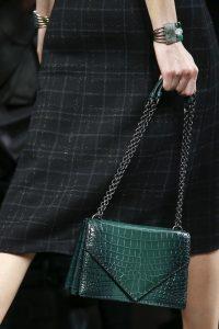 Bottega Veneta Teal Crocodile Flap Bag - Fall 2016