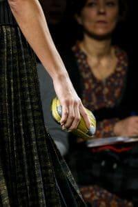 Bottega Veneta Yellow with Silver Detail Crocodile Knot Clutch Bag - Fall 2016