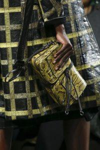 Bottega Veneta Yellow/Black Python Clutch Bag - Fall 2016