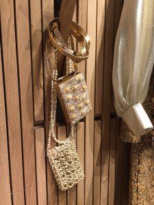 Chanel Beige Beaded Mini Bag