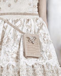 Chanel Beige Crocodile Belt Bag