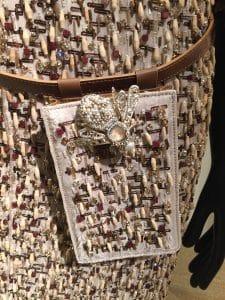 Chanel Beige Multicolor Beaded Belt Bag