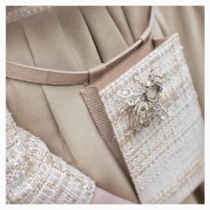 Chanel Beige/White Woven:Python Belt Bag