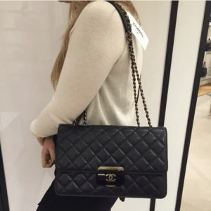 Chanel Black Beauty Lock Large Flap Bag