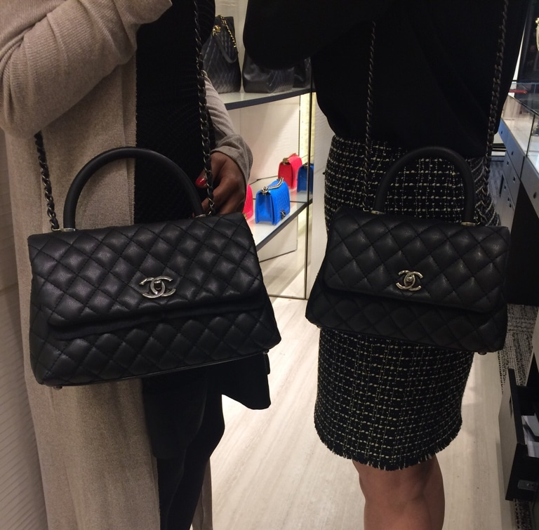 chanel coco handle bag reference guide � spotted fashion