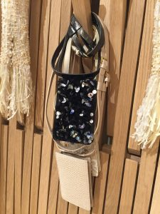 Chanel Black Embroidered and Beige Tweed Belt Bags