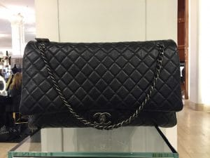Chanel Black XXL Flap Bag 2