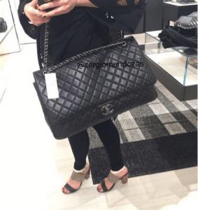 Chanel Black XXL Flap Bag 3