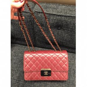 Chanel Burgundy Beauty Lock Mini Flap Bag