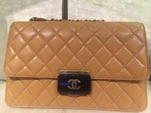 Chanel Camel Beauty Lock Large Flap Bag