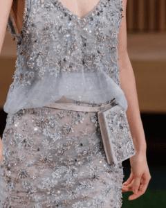 Chanel Grey Embellished Belt Bag