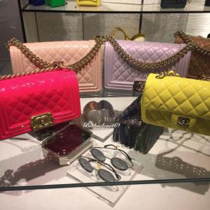 Chanel Light Pink/Light Purple/Dark Beige Iridescent Calfskin Boy Bags