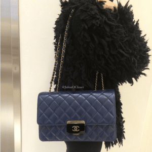 Chanel Navy Blue Beauty Lock Large Flap Bag