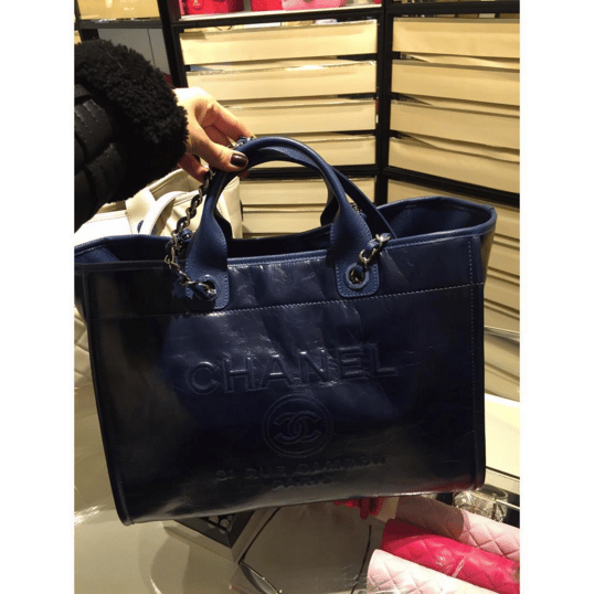 01ada0987666 Chanel Navy Leather Deauville Tote Bag 4. IG  lux brands boutique