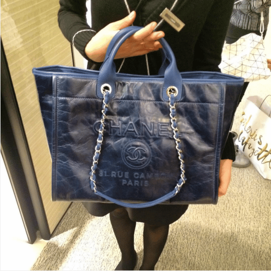 a7007e1636b3 Chanel Navy Leather Deauville Tote Bag 5. IG  parisluxeonline