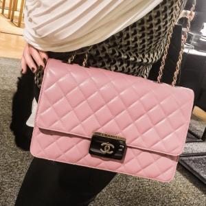e02634eeb4bf Chanel Pink Beauty Lock Large Flap Bag. IG  nicole ontrend