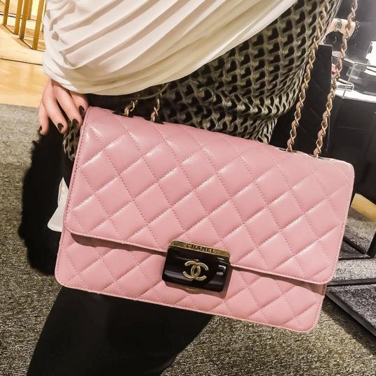 Chanel Pink Beauty Lock Large Flap Bag