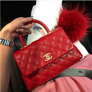 Chanel Red Mini Coco Handle Bag