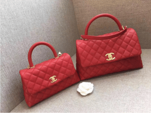 Chanel Red Mini and Small Coco Handle Bags